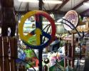 This multicolored peace sign wind chime would look amazing on any porch!