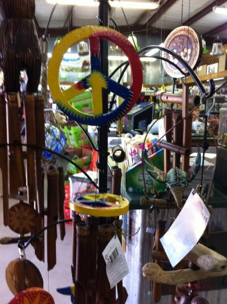 [Image: This multicolored peace sign wind chime would look amazing on any porch! ]