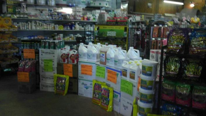 To keep your lawn looking its best we sell a variety of fertilizers and pesticides!