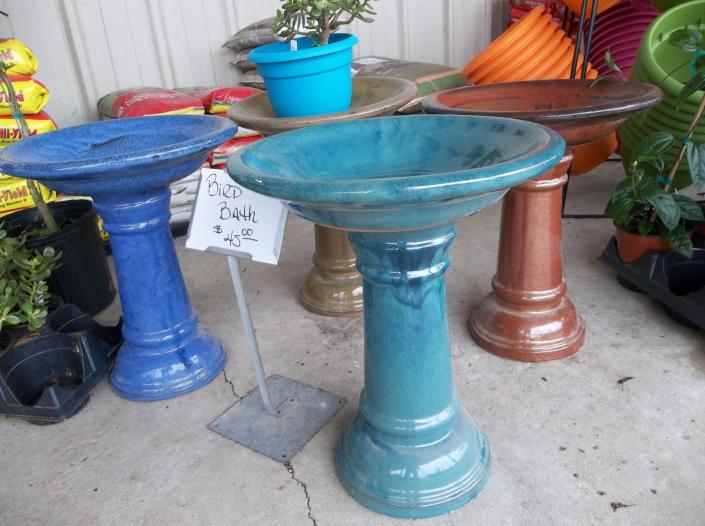 From darker blue to copper reds, you can get your bird bath in nearly any color.